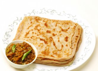 Stuffed Roti With Onion Sambol
